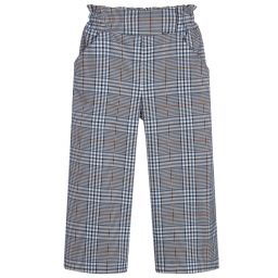 Mayoral - Navy Blue Check Trousers | Childrensalon Outlet