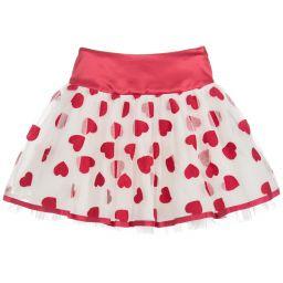 a8d243f41c8d Monnalisa Chic - Girls Red Hearts Skirt | Childrensalon Outlet