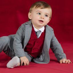 e19e9f46f731 Patachou - Boys Grey Flannel Blazer | Childrensalon Outlet