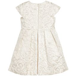 cfd8cd282 Romano Princess - Girls Ivory Jacquard Dress