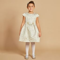 5fcdef9e220f Romano Princess - Girls Ivory Jacquard Dress