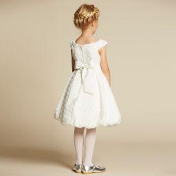 4c39a0d67d42 ... Romano Princess - Ivory Brocade Bubble Hem Dress | Childrensalon ...