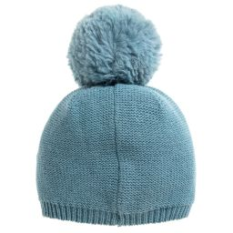 4368afe3433 Tutto Piccolo - Girls Blue Knitted Hat   Scarf