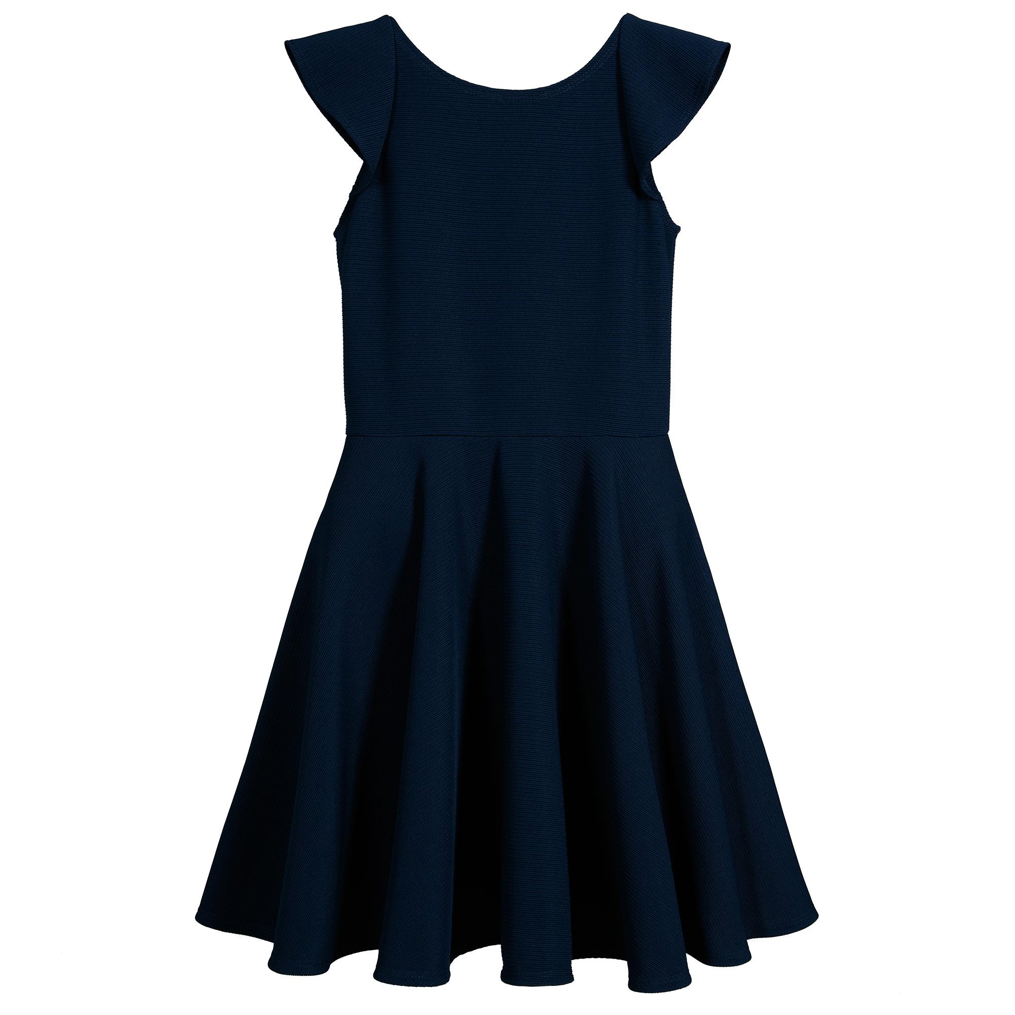 David Charles   Girls Blue Ruffle Dress   Childrensalon Outlet