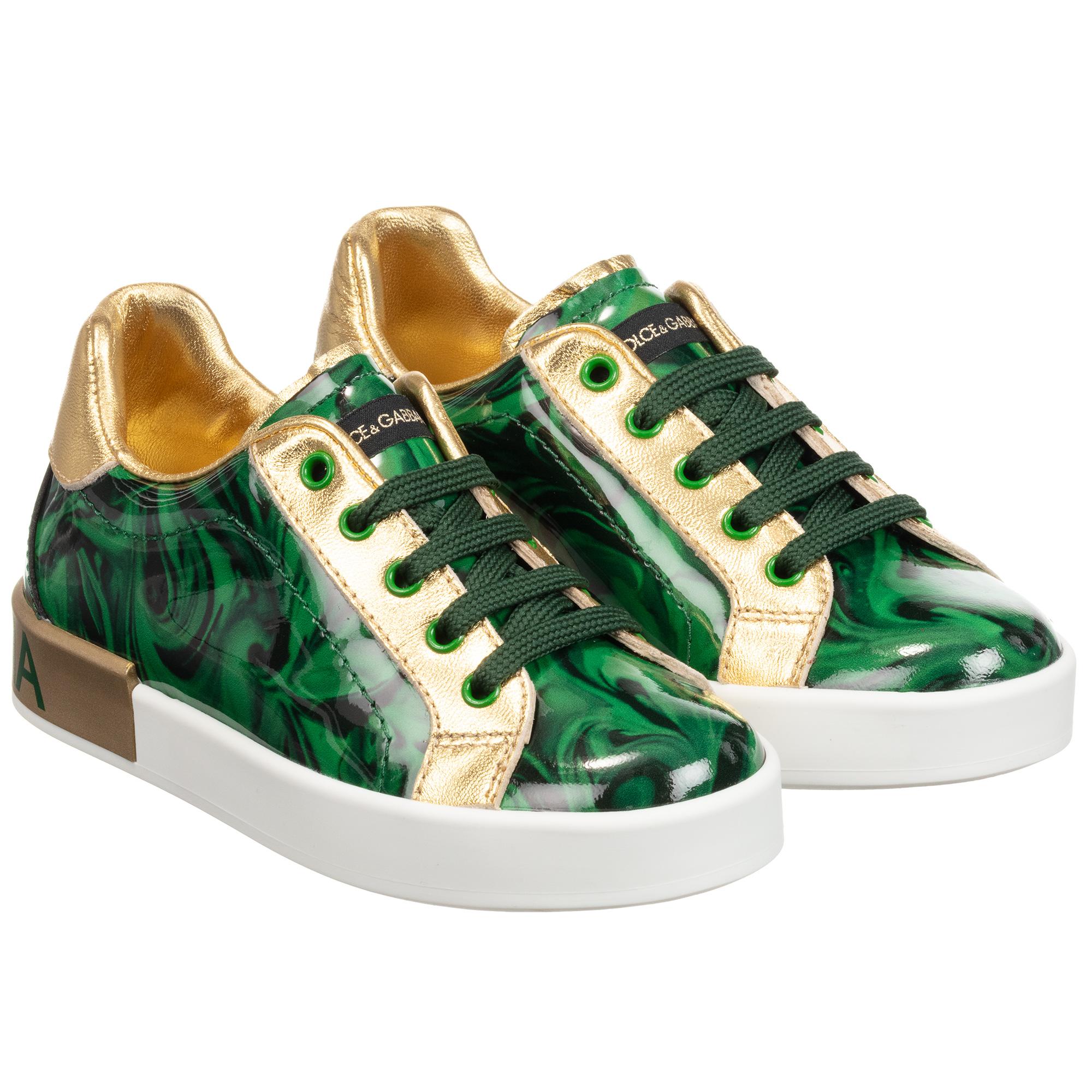 Dolce \u0026 Gabbana - Green \u0026 Gold Leather