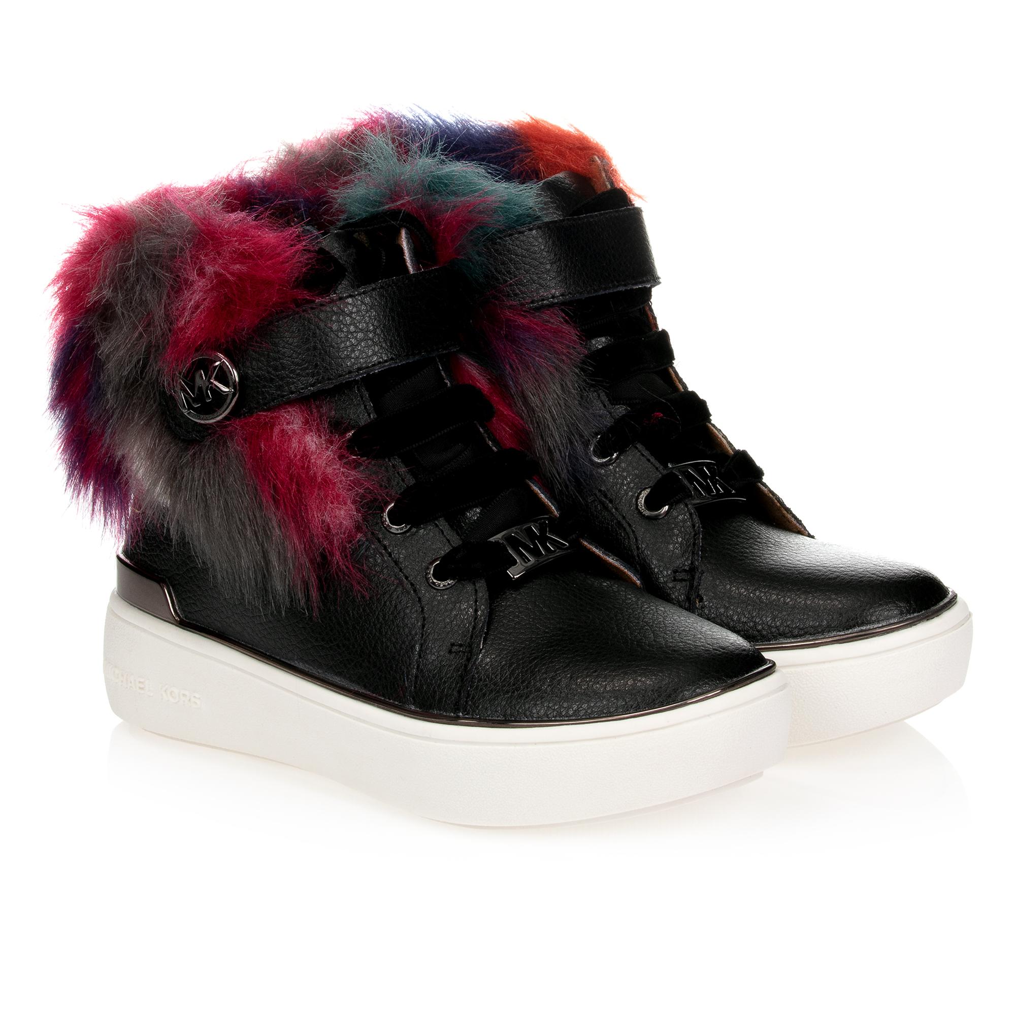 Michael Kors - Girls Black Leather