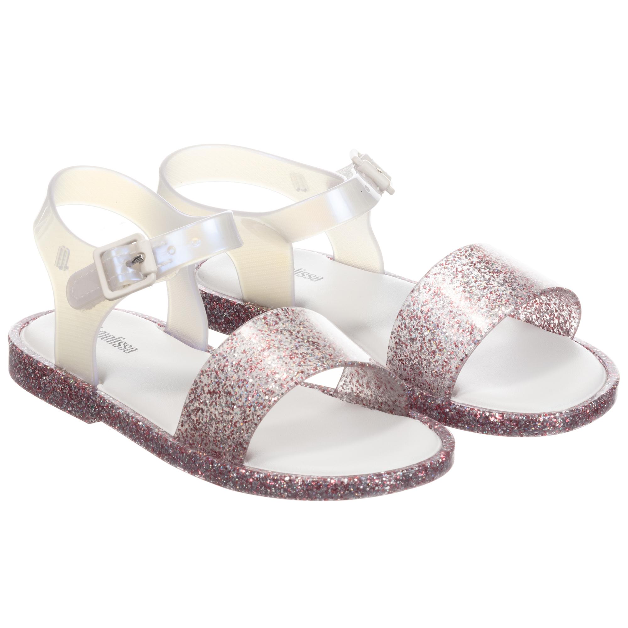 Mini Melissa - Pink Glitter Jelly