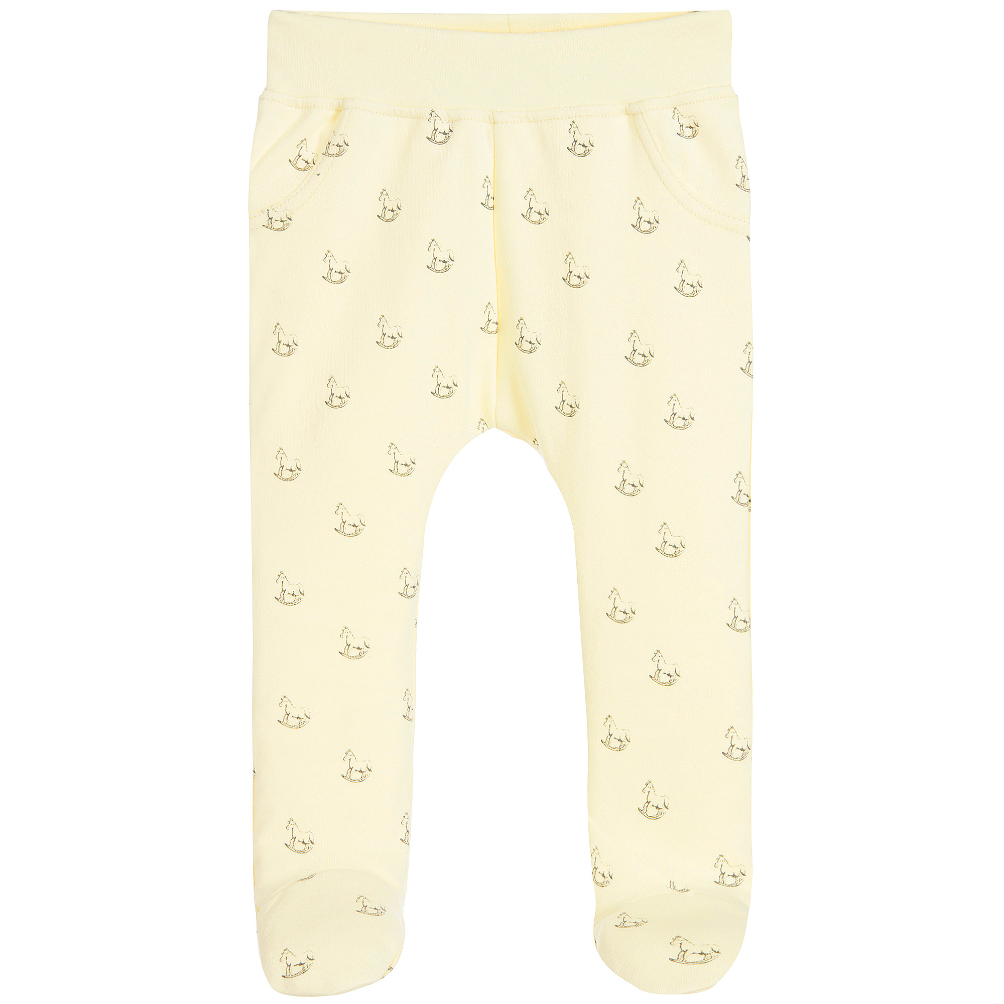 The Little Tailor Yellow Cotton Baby Leggings Childrensalon Outlet